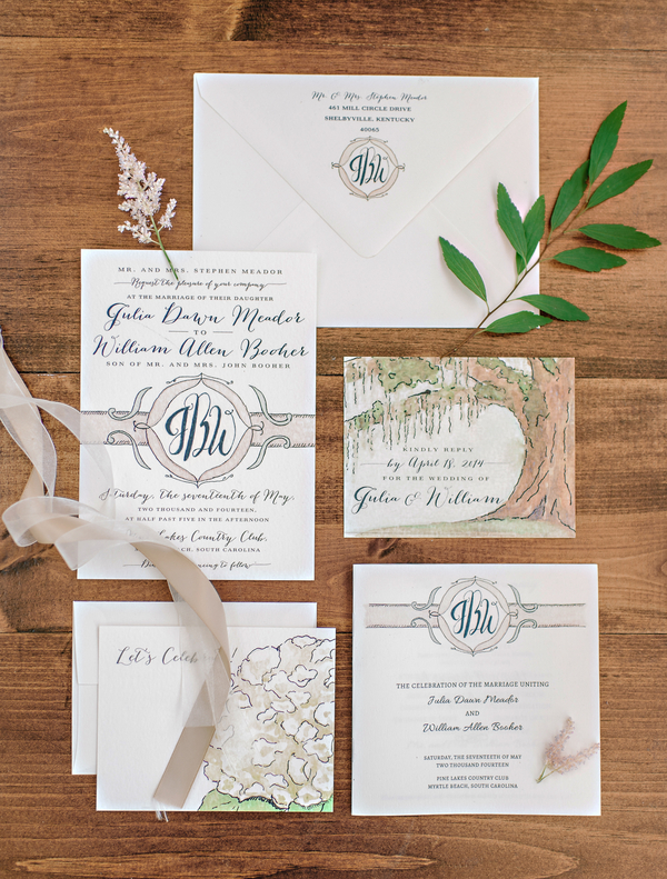 Myrtle Beach Wedding Invitations