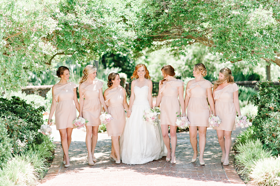 Myrtle Beach Wedding Bridesmaids in Pale pink