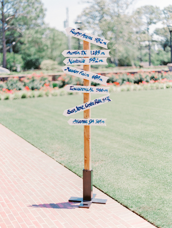 Myrtle Beach Wedding signs at Pine Lakes Country Club
