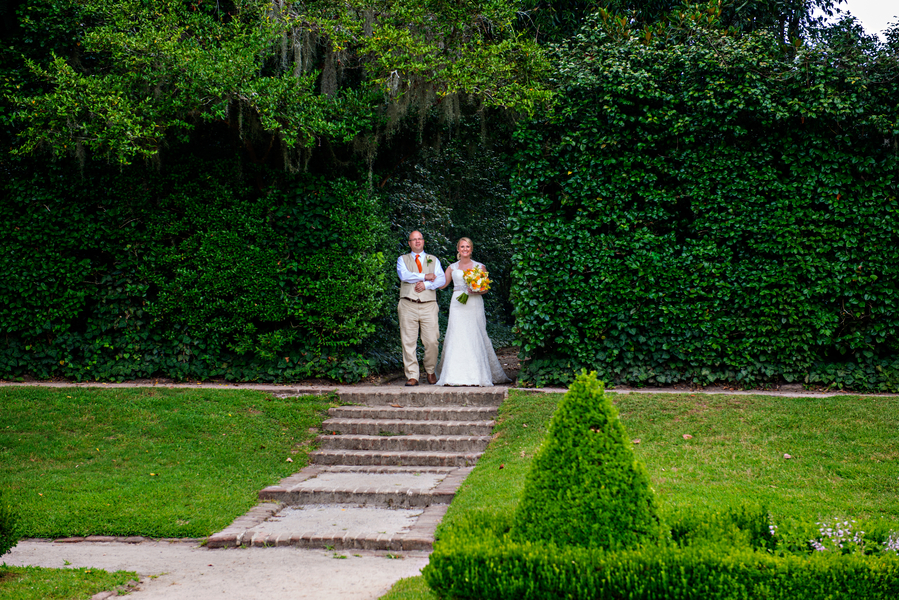 at Will + Dana's Middleton Place Wedding Ceremony in Charleston, Sc