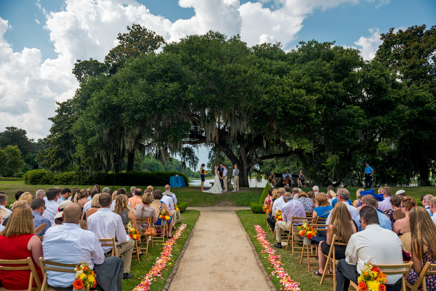 at Will + Dana's Middleton Place Outdoor Wedding Ceremony