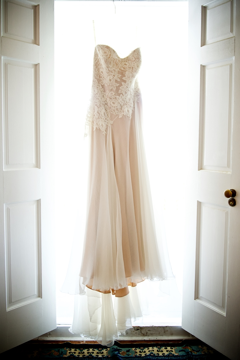 Anna Maier Gown with blush underlay from Maddison Row