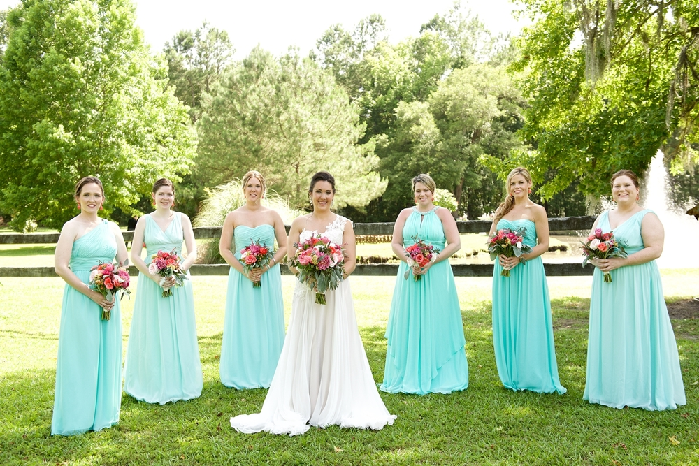 Aqua Bridesmaids Dresses from Bella Bridesmaids