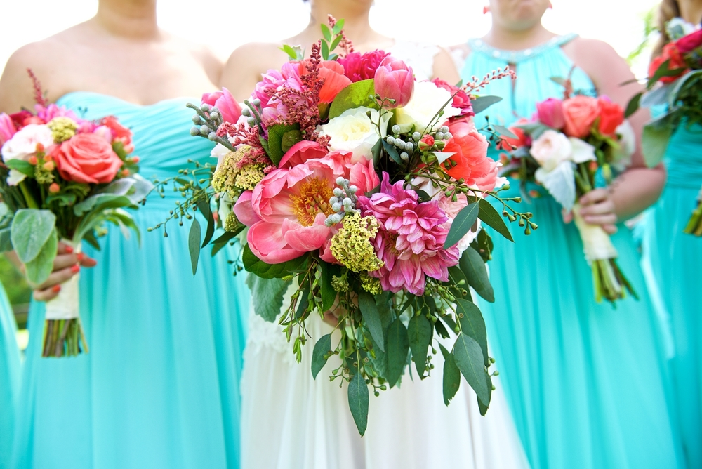 Bright Pink Peony Bouquets