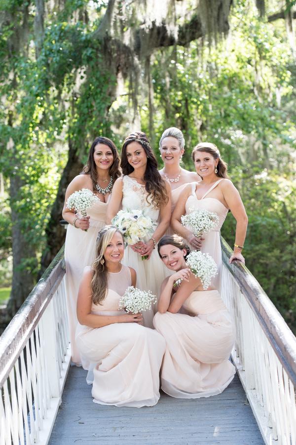 Bridesmaids at Magnolia Plantation and Gardens wedding