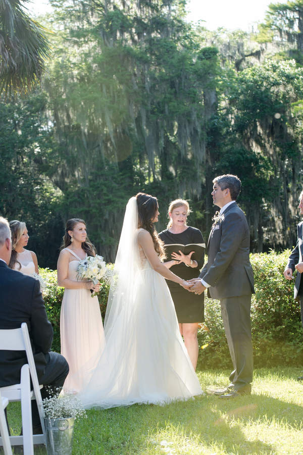 Outdoor ceremony at Magnolia Plantation and Gardens wedding