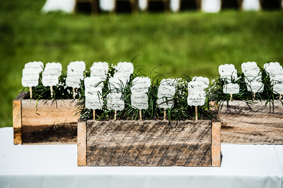 Charleston wedding escort cards