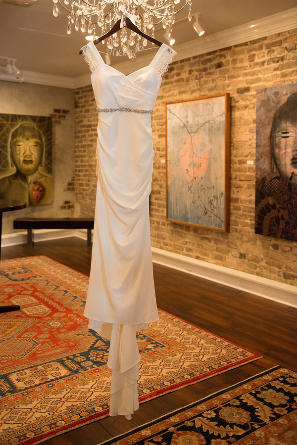 Charleston Wedding Dress at Rice Mill Building