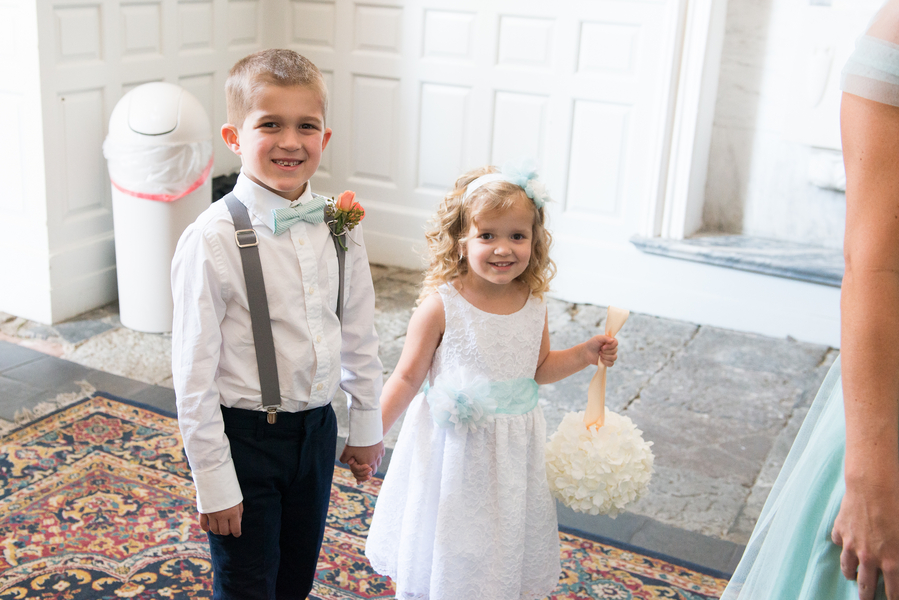 Flower girls and Ring Bearers at Charleston Wedding
