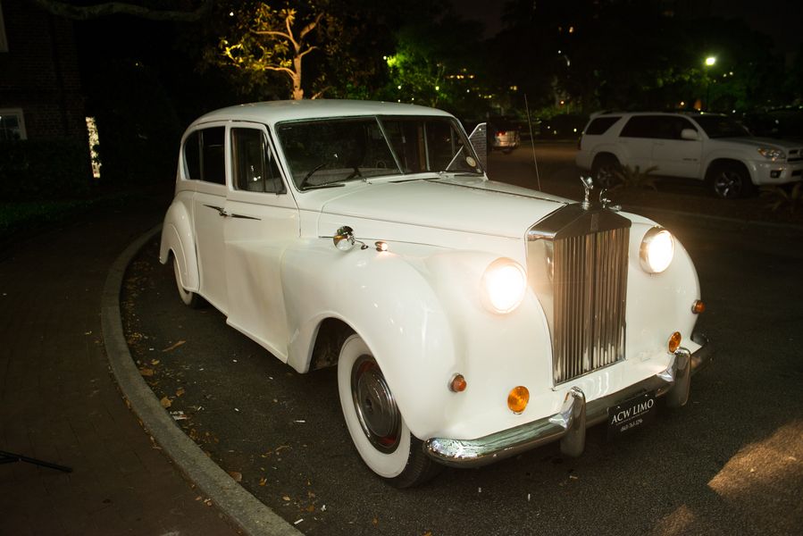 Charleston weding getaway car