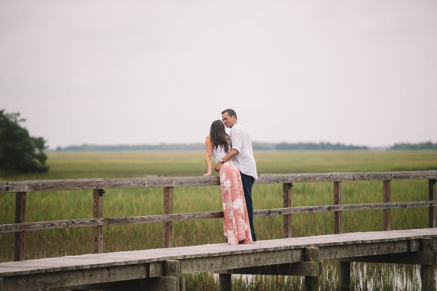 David + Meghan's Charleston Engagement on the docks