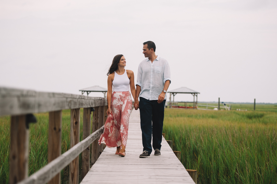 Charleston Engagement on the docks by Jennings King Photography