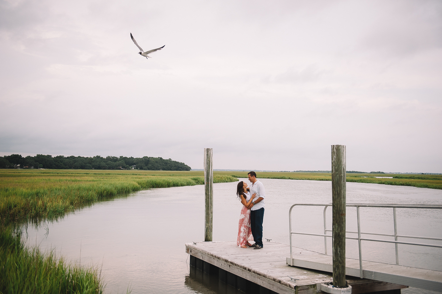 David + Meghan's Charleston Engagement on the docks by Jennings King Photography