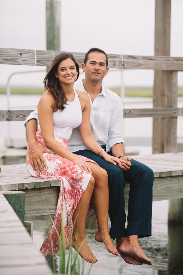 Charleston Engagement on the docks
