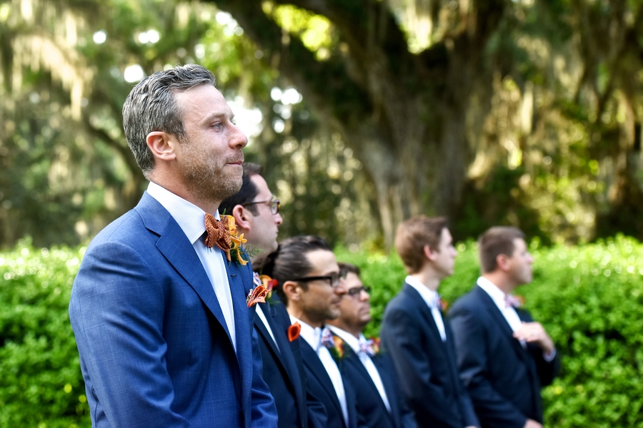 Tori + David's Orange Ford Plantation wedding ceremony in Savannah, GA by Donna Von Bruening