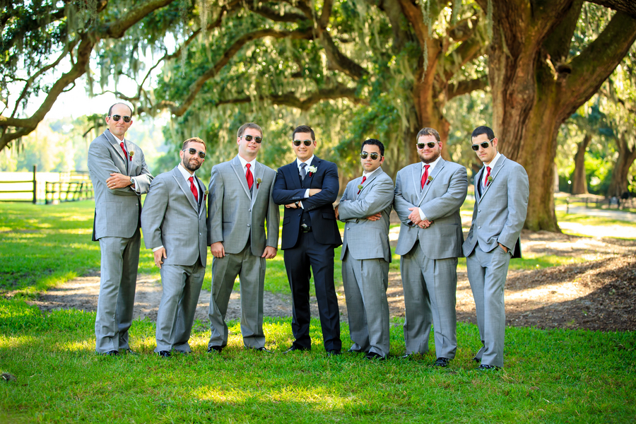 Red Charleston Wedding at Boone Hall Plantation by David Strauss Photography