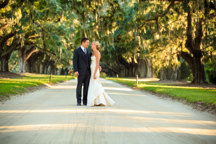 Boone Hall Plantation wedding at The Cotton Dock by David Strauss Photography