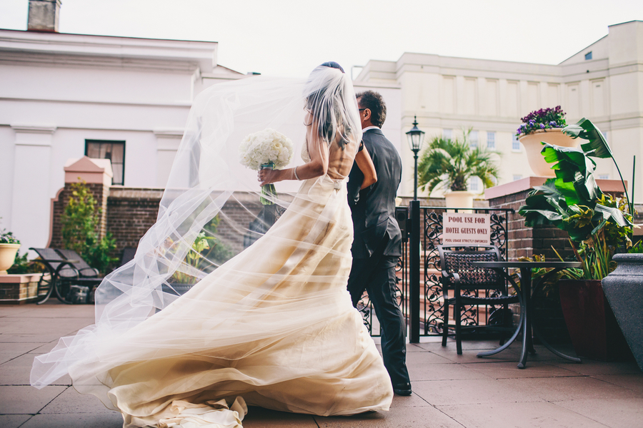 Charleston wedding at Mills House by Hyer Images