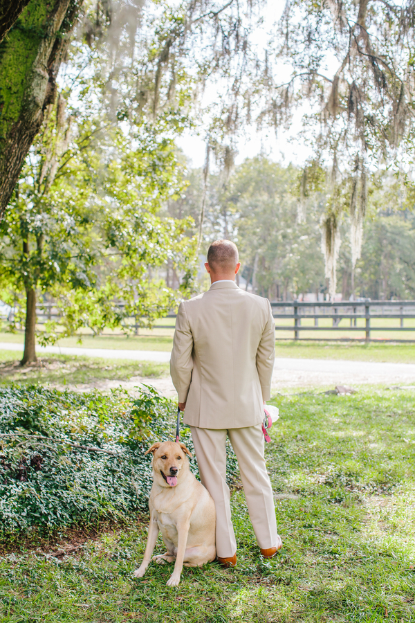 Charleston wedding first look at Pepper Plantation