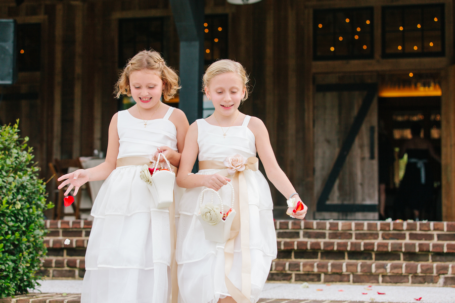 Flower girls at Rustic Charleston wedding at Pepper Plantation