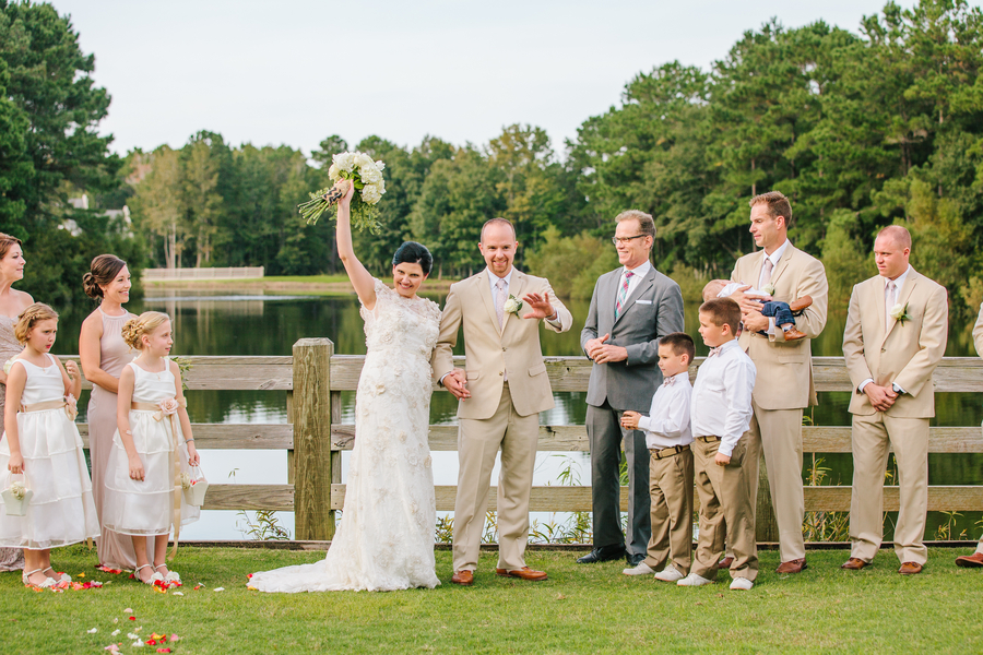 Rustic Charleston wedding ceremony at Pepper Plantation