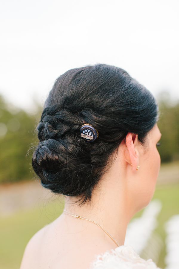 Charleston wedding hair at Pepper Plantation