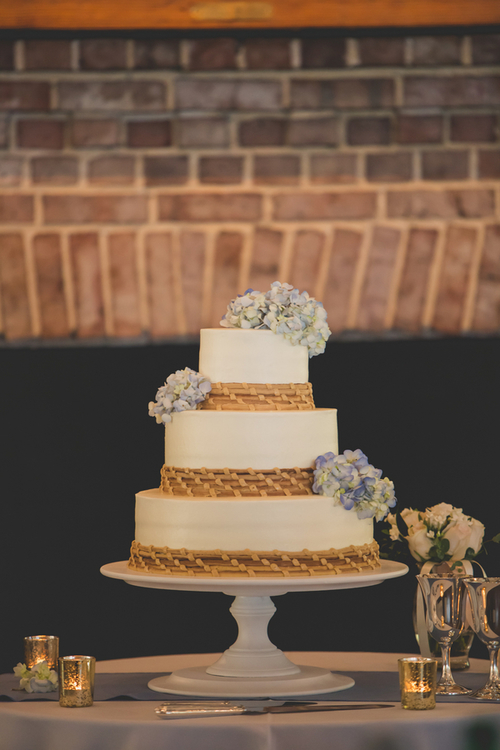 Sweetgrass inspired cake by Ashley Bakery from Alhambra Hall wedding in Charleston, SC