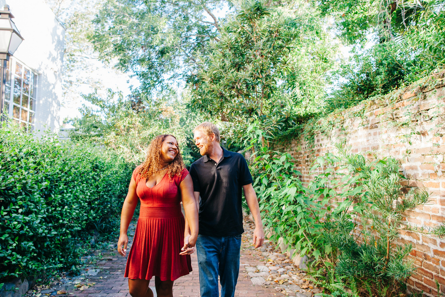 Downtown Charleston Engagement Session by Riverland Studios