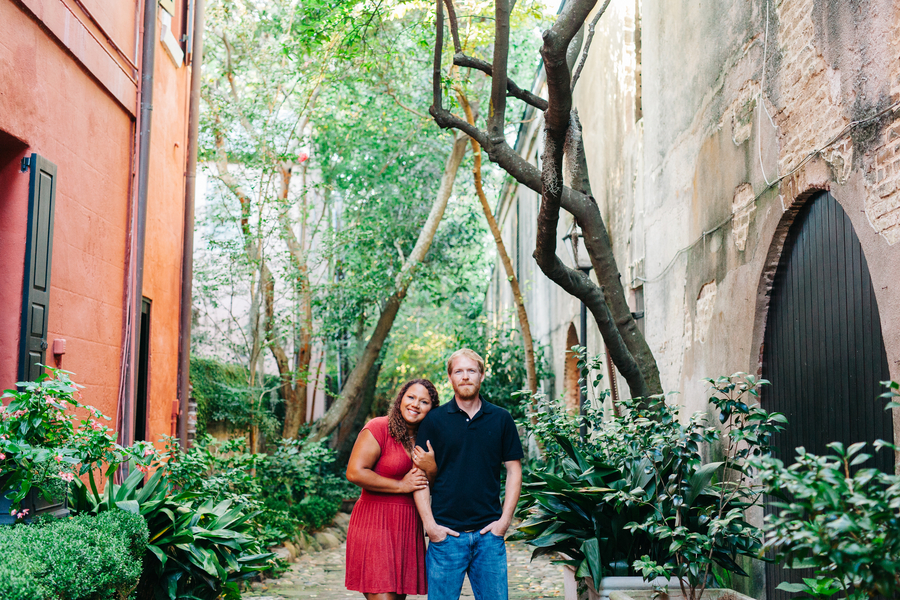 Elizabeth + Allen's Downtown Charleston Engagement Session