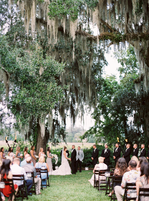 Charleston Magnolia Plantation and Gardens Wedding Ceremony by JoPhoto