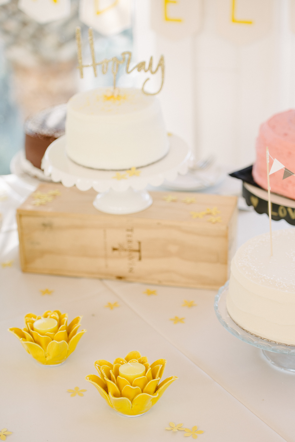 Yellow Cottage on the Creek Wedding Cake in Charleston, SC by Sean Money + Elizabeth Fay