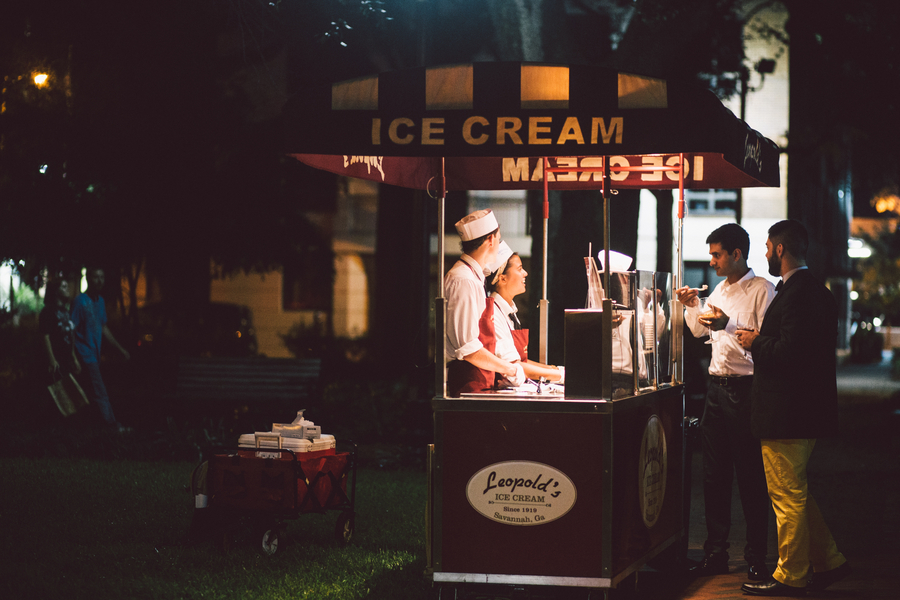 Leopold's Ice cream at Savannah wedding by Krista Turner Photography