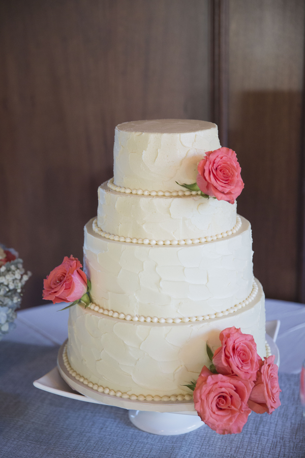Cake by Croissant Bistro + Bakery at Harborside East wedding