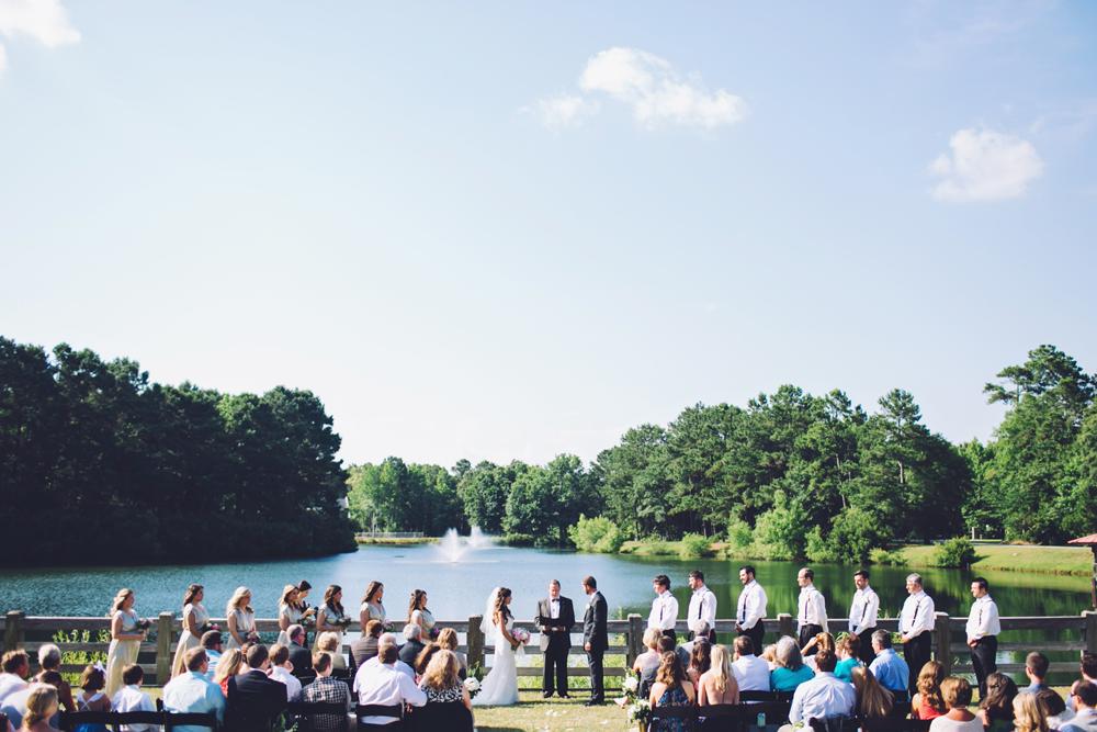 Pepper Plantation wedding ceremony in Charleston, SC by Monika Gauthier Photography