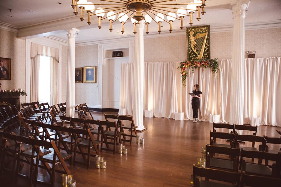 Jocelyn + Tim's Hibernian Hall wedding ceremony in Charleston, SC by amelia + dan photography
