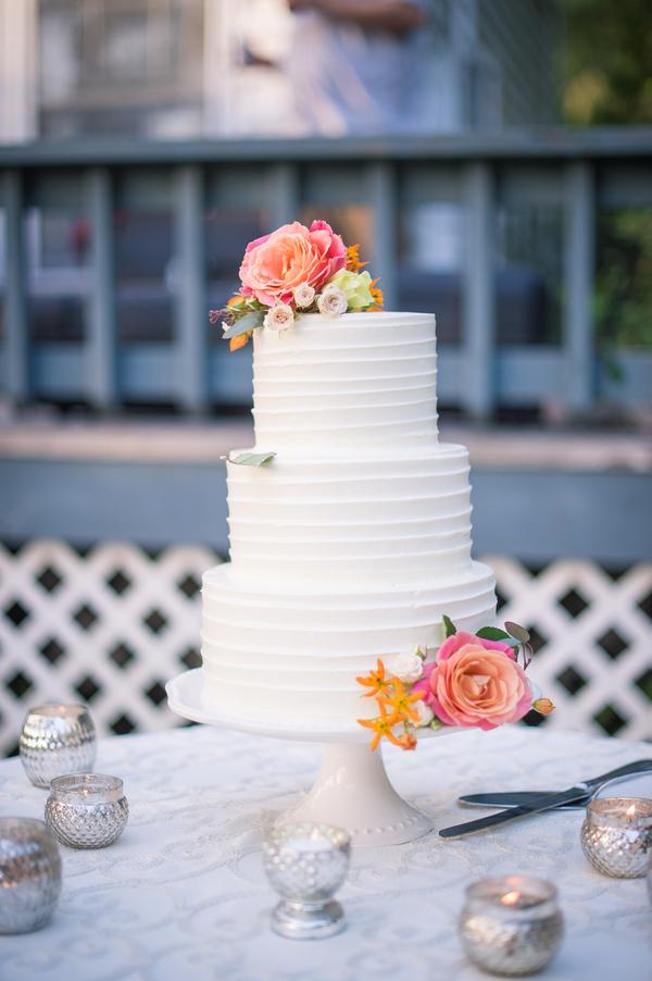 Wadmalaw Island wedding cake by Wildflour Pastry