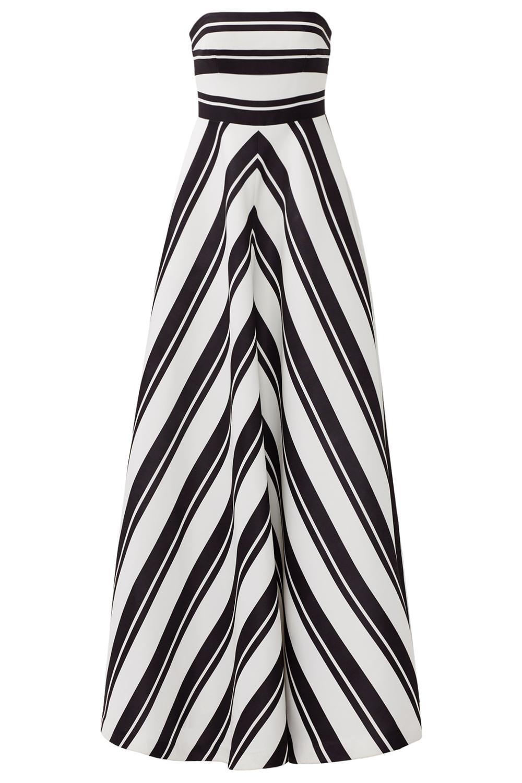 Halston Heritage Barber Stripe Gown - Spring Summer Wedding Reception dress - Rent The Runway