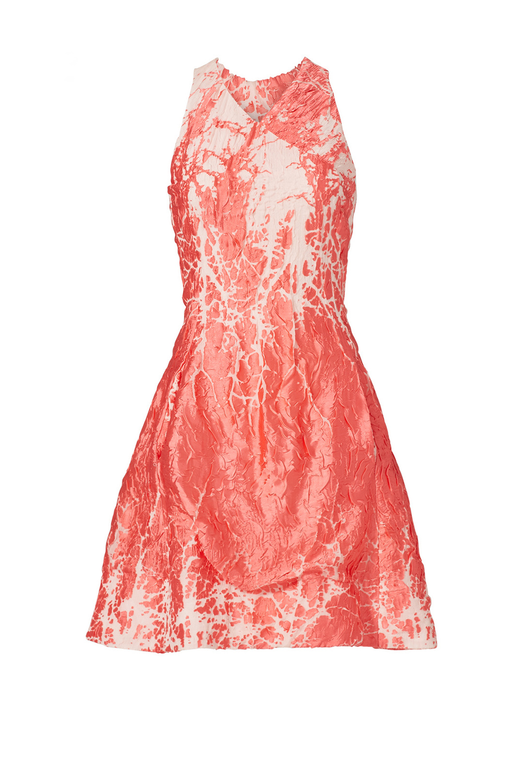 Josie Natori Coral Metallic Dress - on Rent The Runway