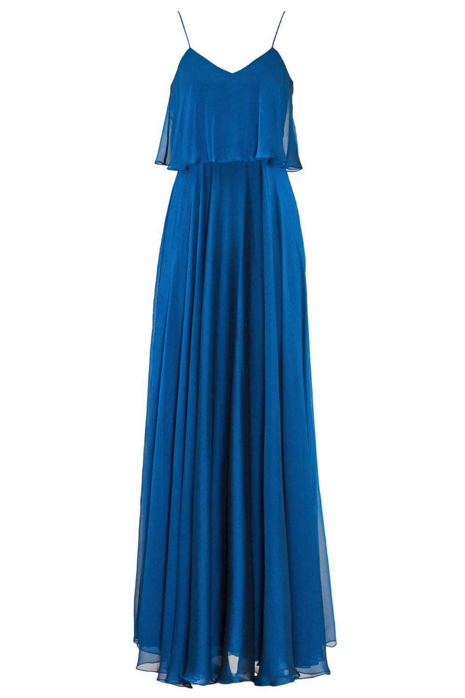 Halston Heritage Indigo LaRue Gown - Spring Summer Wedding Reception Dress