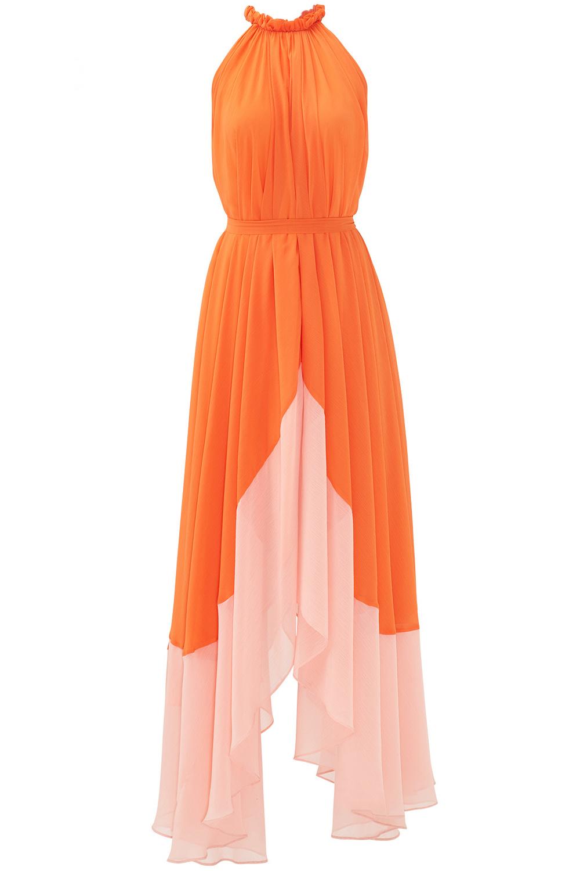 Saloni Orange Iris Maxi - Rent The Runway Wedding