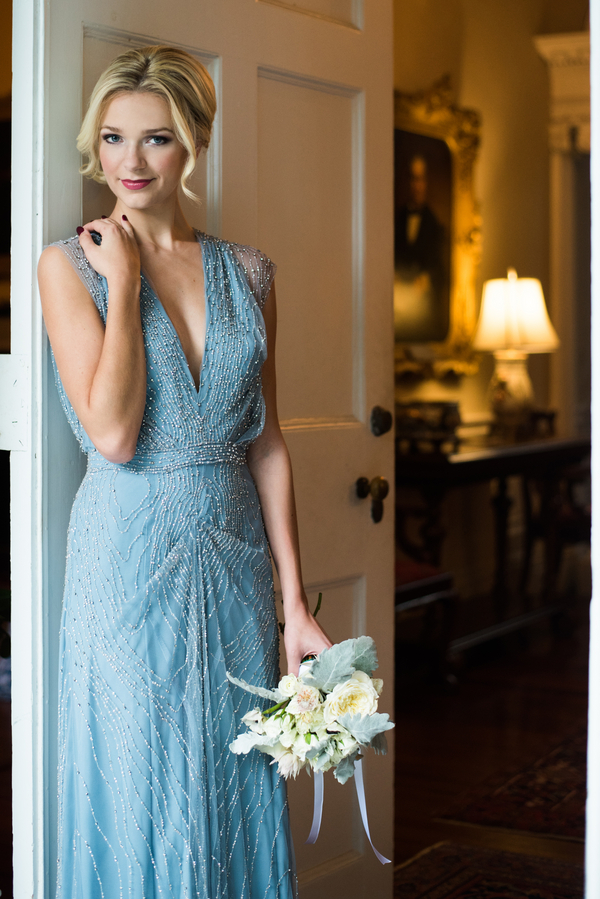 Blue Garden Party Wedding Inspiration at Thomas Bennett House in Charleston, SC