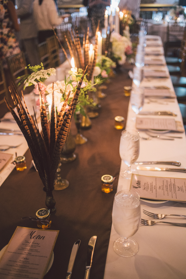 Centerpieces from A to Zinnia's at Savannah wedding at The Olde Pink House