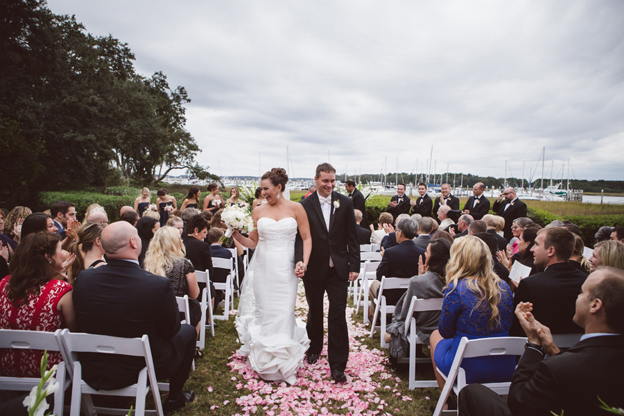 Brooke + Greg's Nautical Windows on the Waterway Wedding