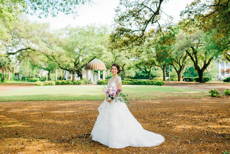Kyra + Shawn's Purple Charleston wedding at Hibernian Hall