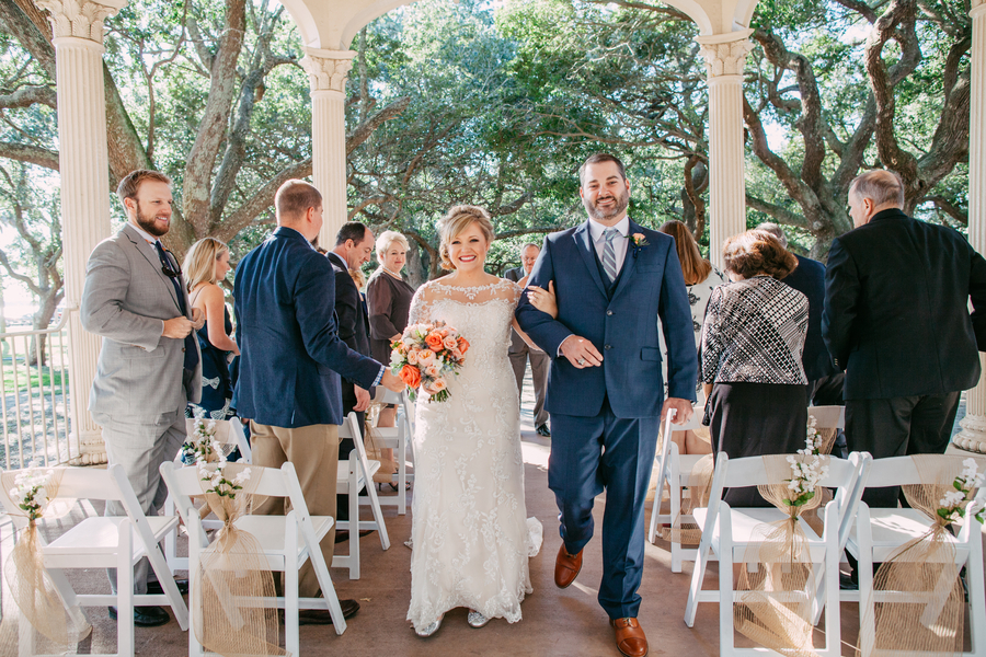 Charleston Wedding ceremony at White Point Gardens by Riverland Studios