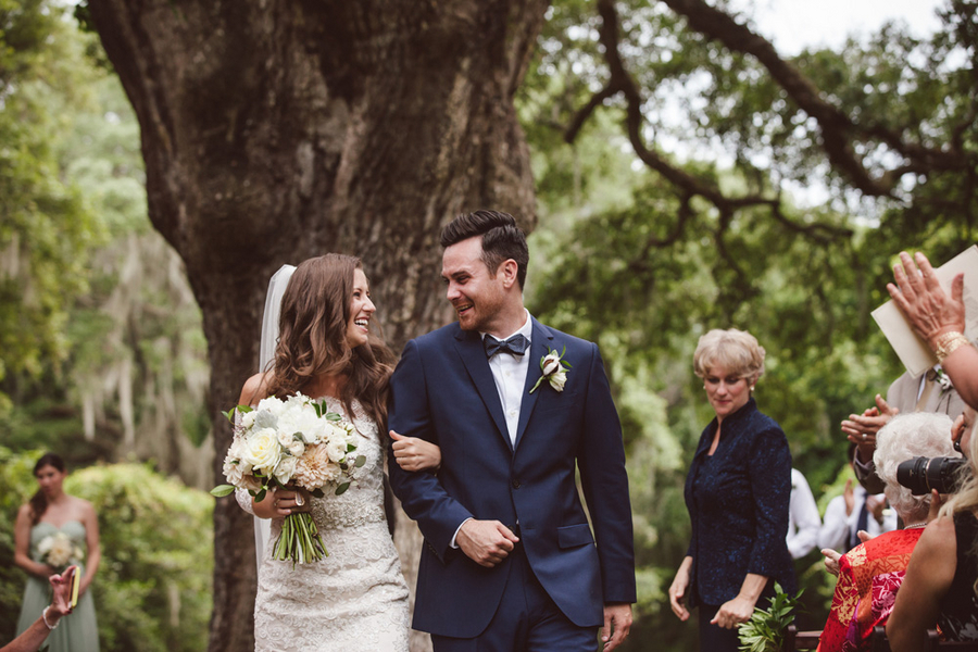 Legare Waring House wedding ceremony in Charleston, SC by amelia + dan photography