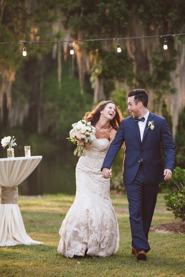 Outdoor Charleston wedding at Legare Waring House by amelia + dan photography
