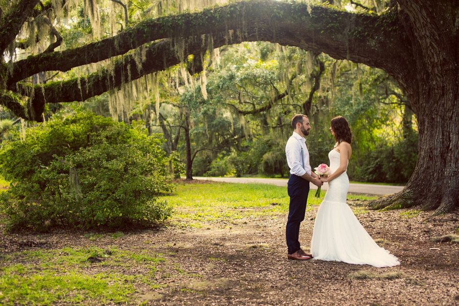 Julia + Joseph's Magnolia Plantation and Gardens wedding in Charleston, SC by Duvall Catering, Jeanne Mitchum Photography, EventHaus Rentals