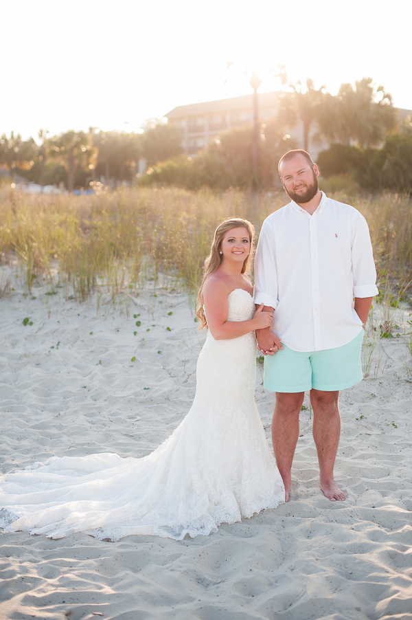 The Beach House Hilton Head Island wedding by Lowcountry vendors Southern Jewel Photography, Sweet Carolina Cupcakes, Frilly Bloomers Florist, Anjolique Bridal