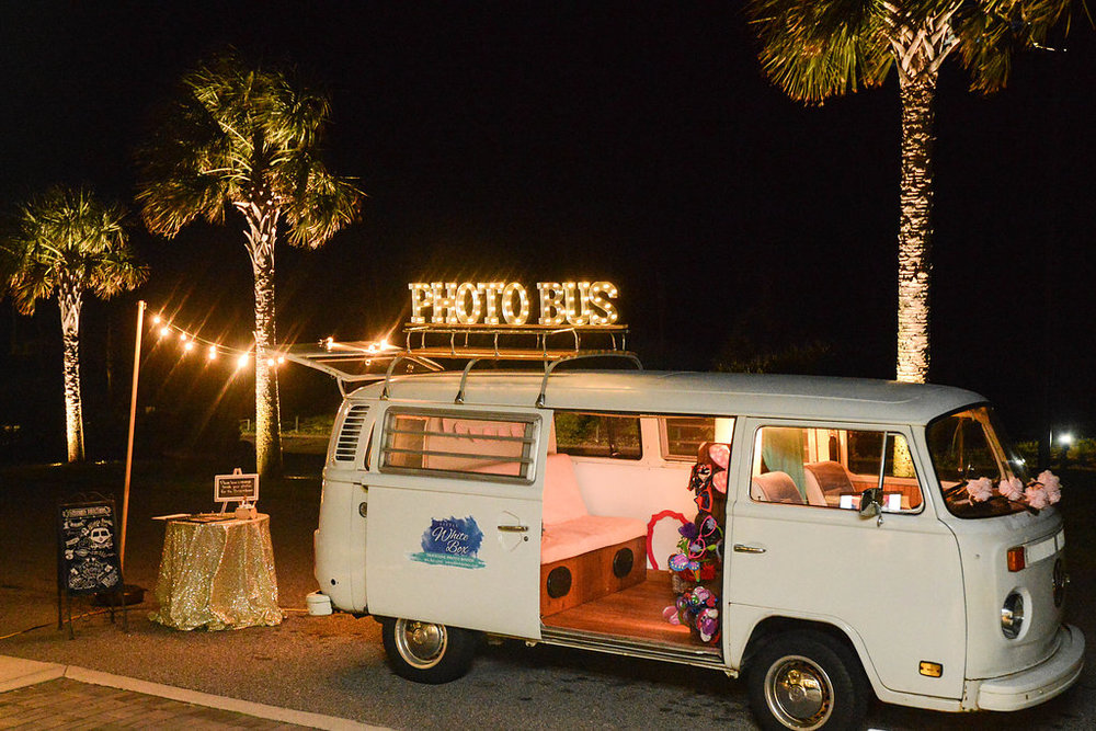 The Little White Box Traveling Photo Booth at Seabrook Island Club wedding in Charleston, South Carolina